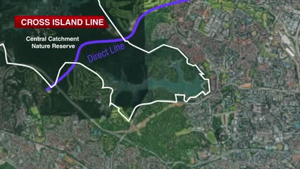 Cross Island Line to take direct route under Central Catchment Nature Reserve | Video