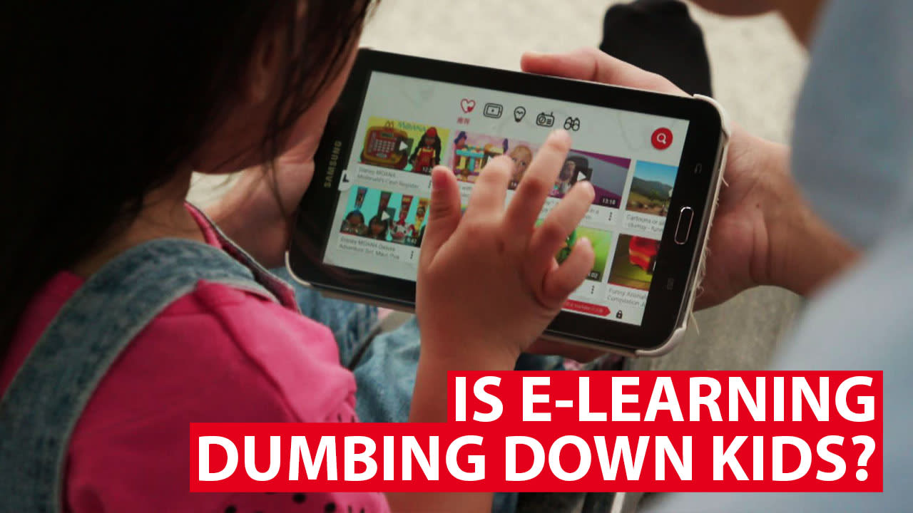 Is e-learning dumbing down kids?