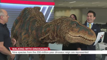 Walking with Dinosaurs comes to Singapore - and pays a surprise visit to CNA | Video