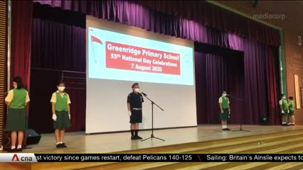 Schools mark Singapore's 55th birthday ahead of National Day   Video