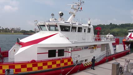 SCDF unveils 'world's most powerful firefighting vessel' to boost response to maritime emergencies | Video