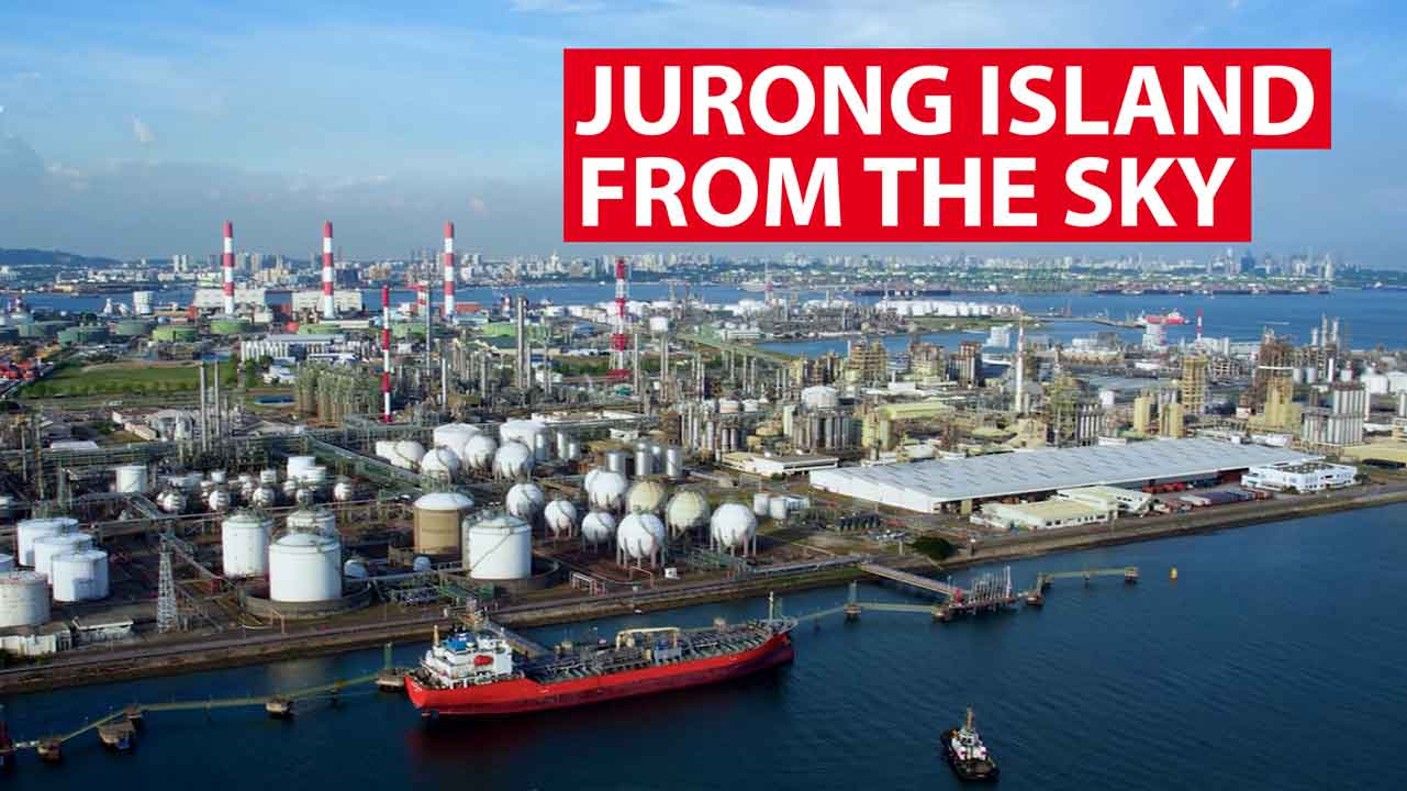 Jurong Island from the sky