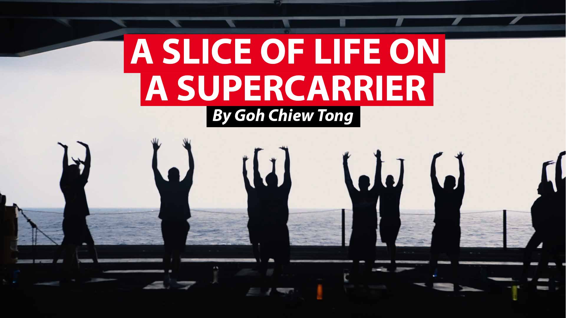 A slice of life on board a US supercarrier