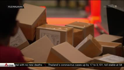 Couriers struggle to keep up with surge in deliveries during COVID-19 outbreak | Video