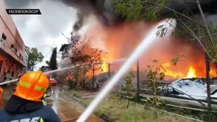 More than 100 firefighters battle blaze at Tuas Crescent building, fire put out after six hours | Video