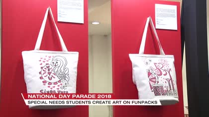 Special education students come together to design NDP 2018 funpacks | Video