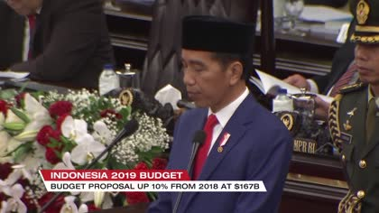 Indonesian president sets 2019 GDP growth target | Video