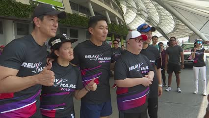 Relay Majulah: 200 runners to complete 2,000km relay for charity | Video
