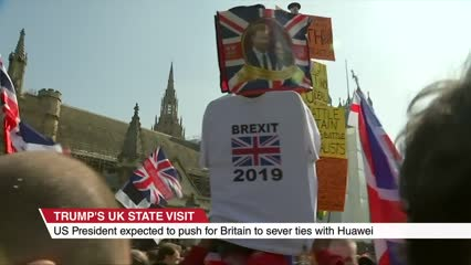 Trump expected to push for Britain to sever ties with Huawei | Video