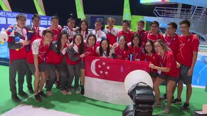 Singapore's swimmers finish with 23 gold medals, match best showing at SEA Games | Video