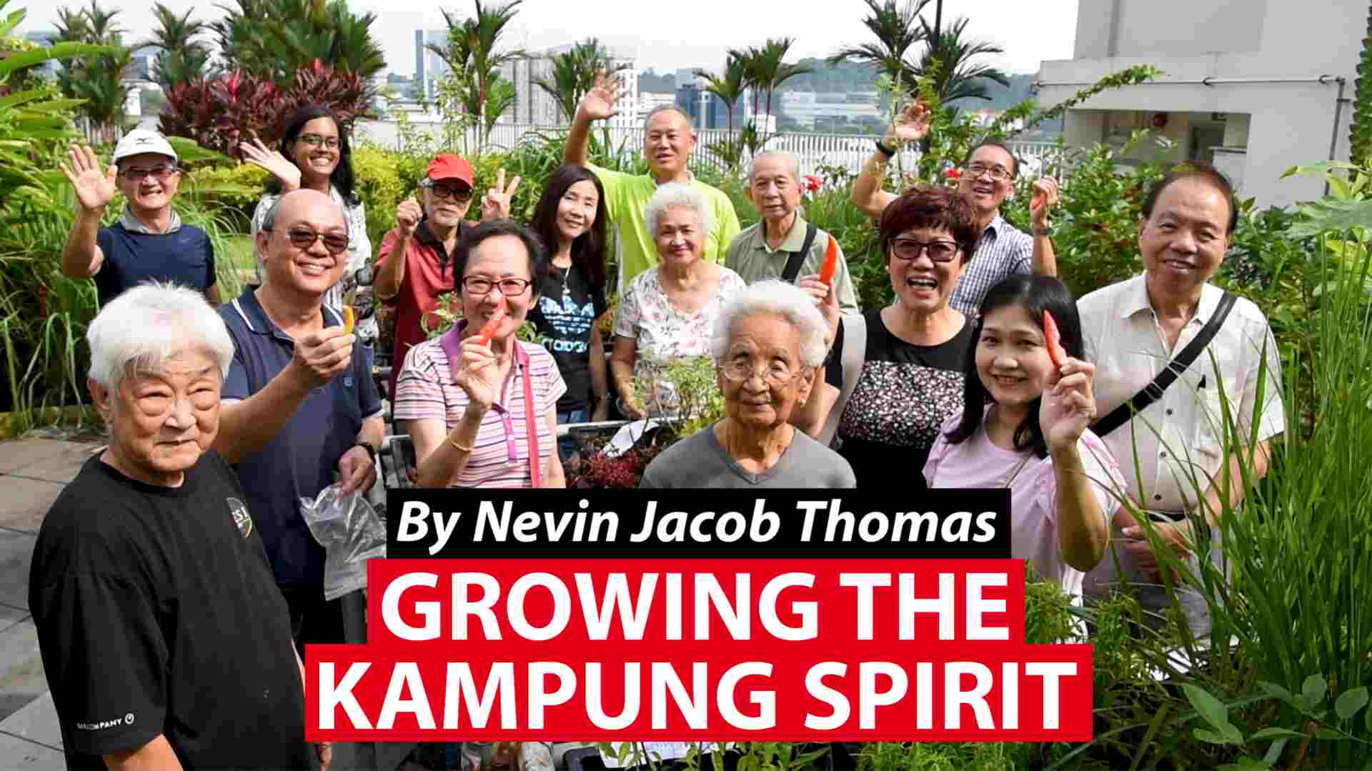 Growing the kampung spirit, on a rooftop garden with a difference
