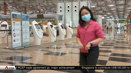 What are the COVID-19 safety measures for passengers in Changi Airport? | Video
