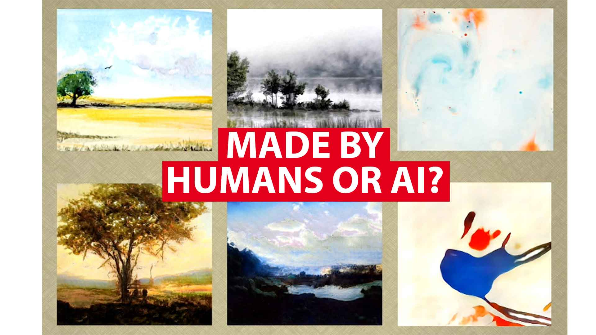 Can you tell apart art created by humans and made by AI?