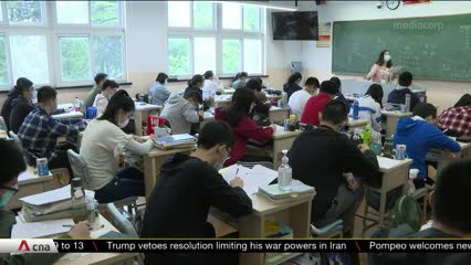 Strict health, safety measures in place at Shanghai high school as COVID-19 situation eases | Video