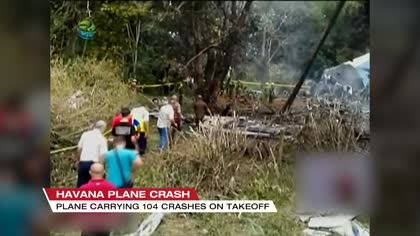 Cuban plane crashes after take off, more than 100 dead