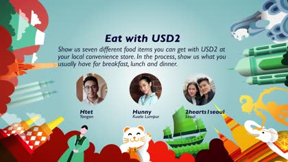Eat with USD2: Htet, Hunny and 2hearts1seoul