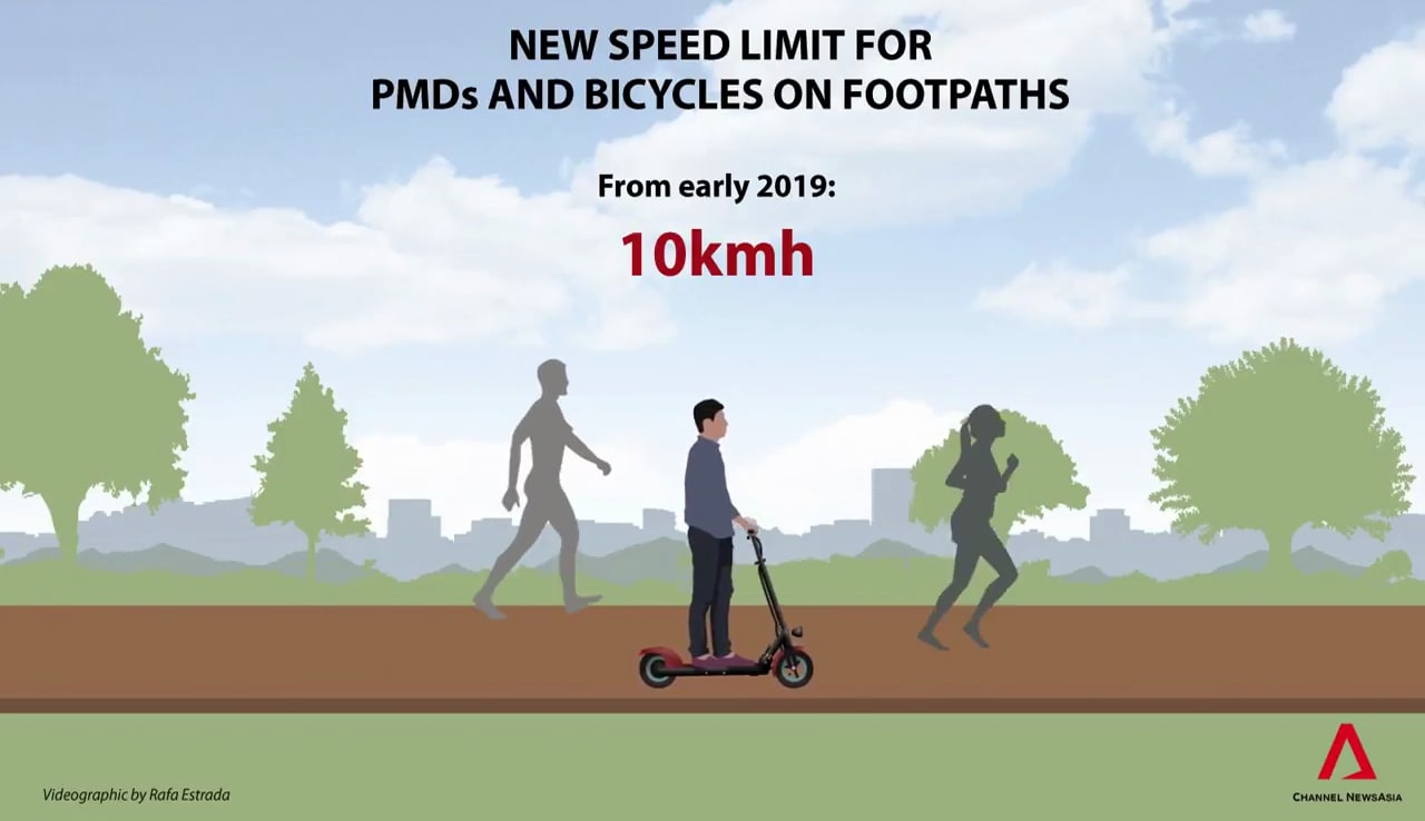 New speed limit for e-scooters in Singapore | Animation