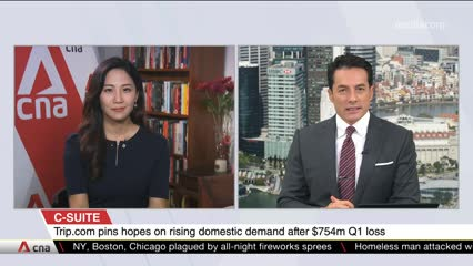 CNA+: Interview with Jane Sun, Group CEO, Trip.com