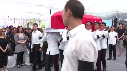Final farewell as actor Aloysius Pang is given military send-off | Video