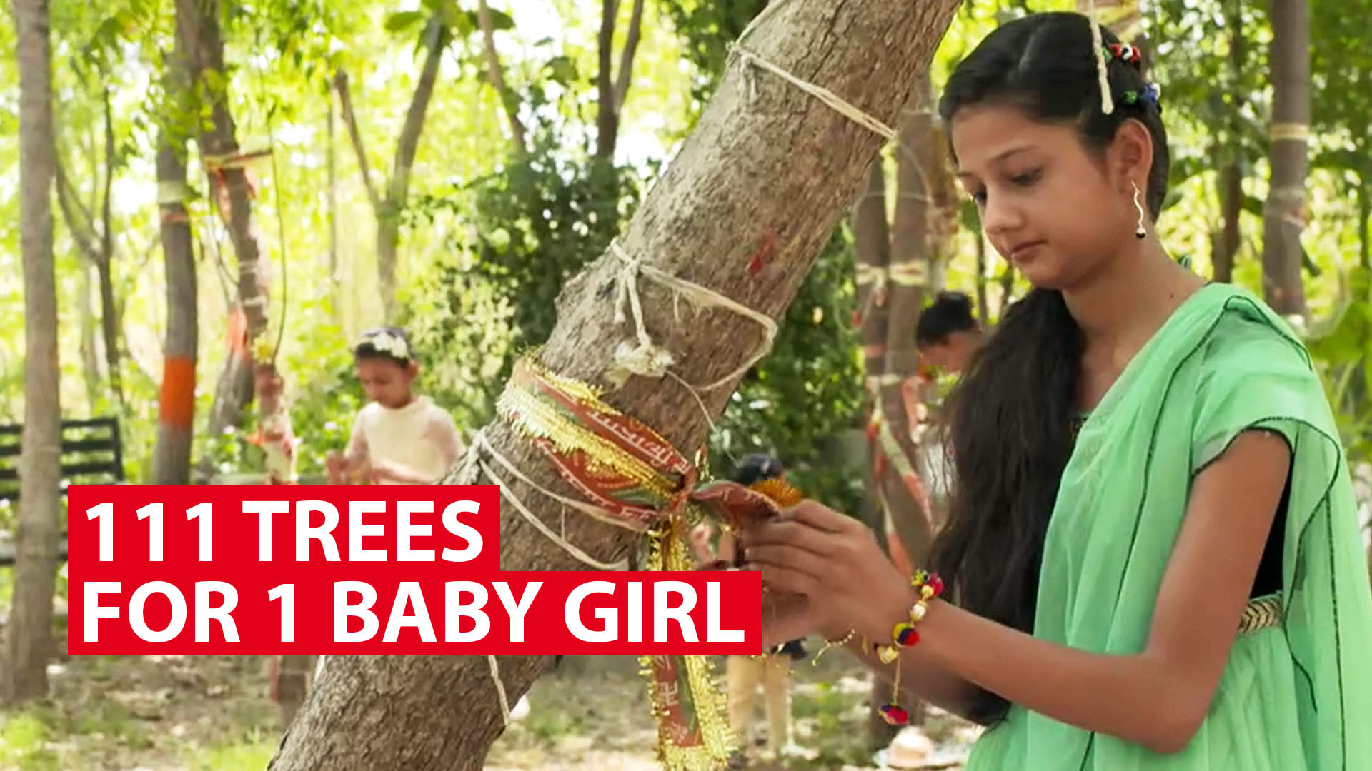 111 trees for 1 baby girl