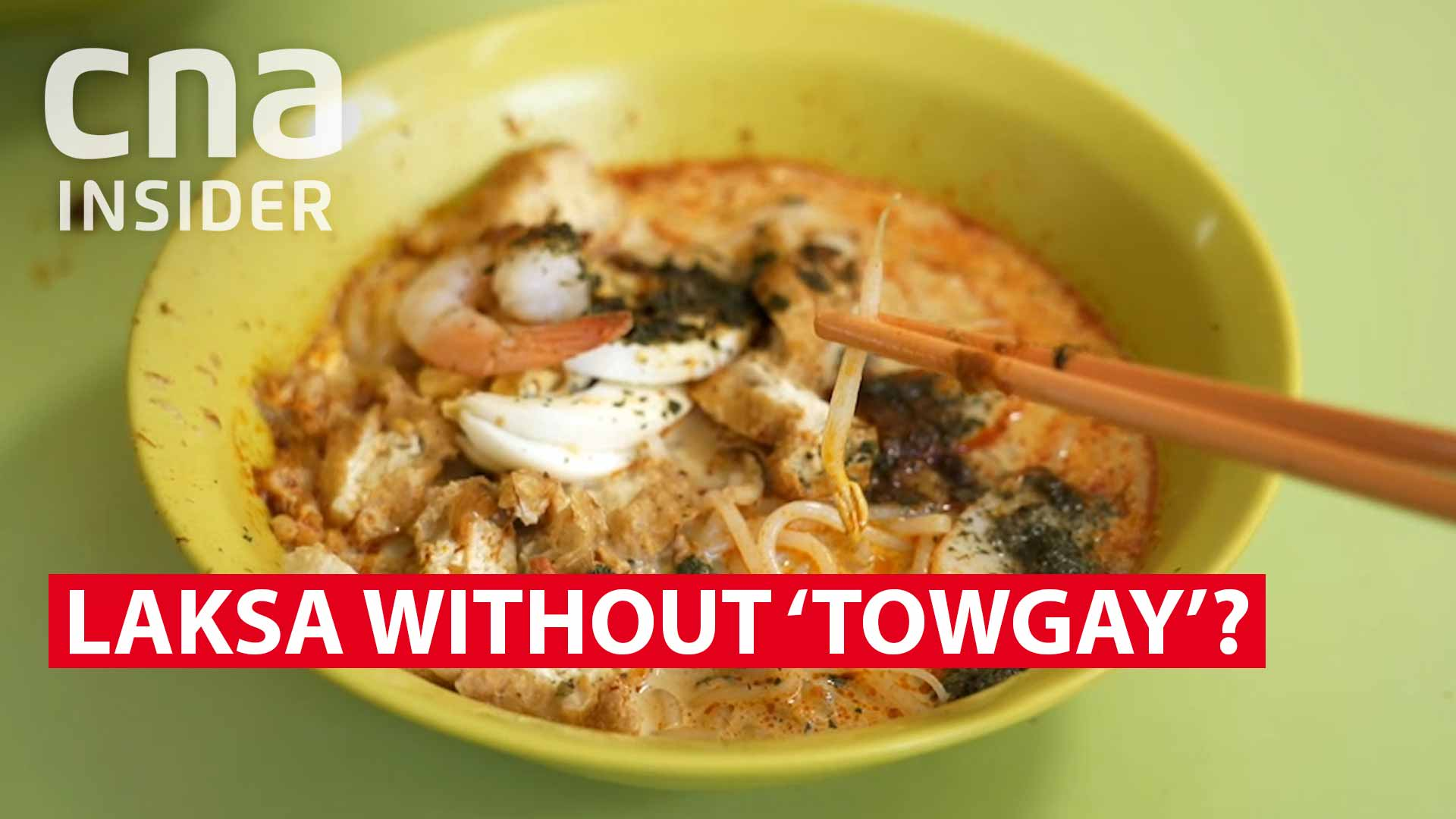 Laksa without 'towgay'?