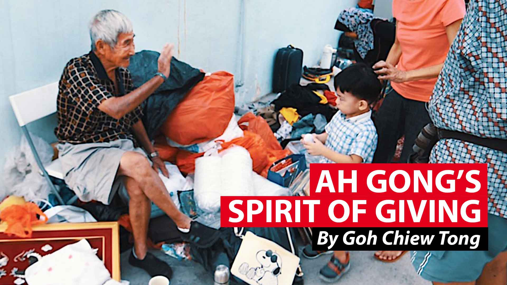Ah Gong's spirit of giving: Eunos' elderly peddler