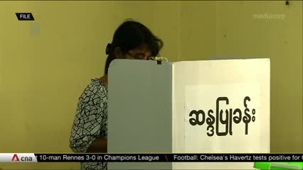 Voting cancelled in many ethnic areas in Myanmar due to conflict   Video
