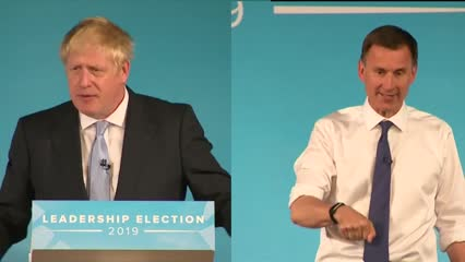 Hunt, Johnson face off in debate as they seek Conservative Party leadership | Video