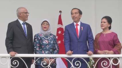 Singapore and Indonesia share 'very strong' commitment in wanting peace, growth and prosperity: President Halimah | Video