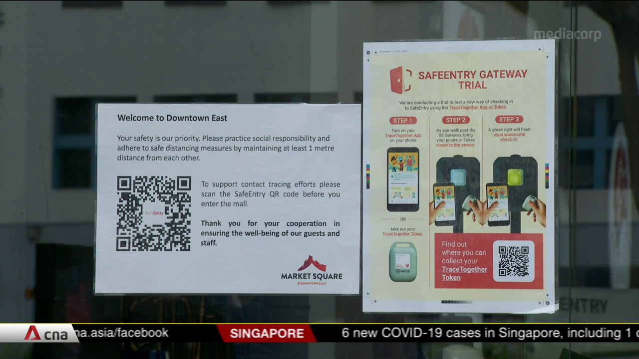 New SafeEntry Gateway device on trial at Downtown East to make TraceTogether check-ins more convenient | Video
