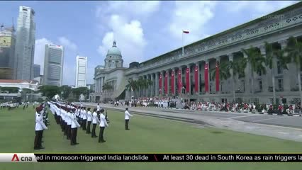 NDP 2020: At downsized Padang parade, frontline and essential workers get salute   Video