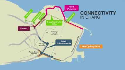 New cycling paths and roads to serve Changi developments, including Terminal 5 | Video