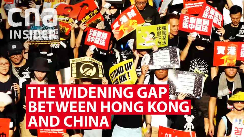 The widening gap between Hong Kong and China